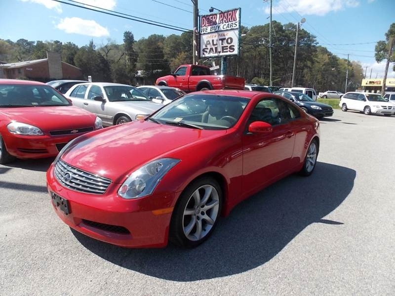 2004 Infiniti G35 for sale at Deer Park Auto Sales Corp in Newport News VA
