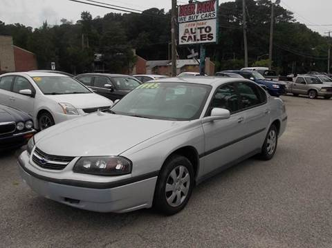 2004 Chevrolet Impala for sale at Deer Park Auto Sales Corp in Newport News VA