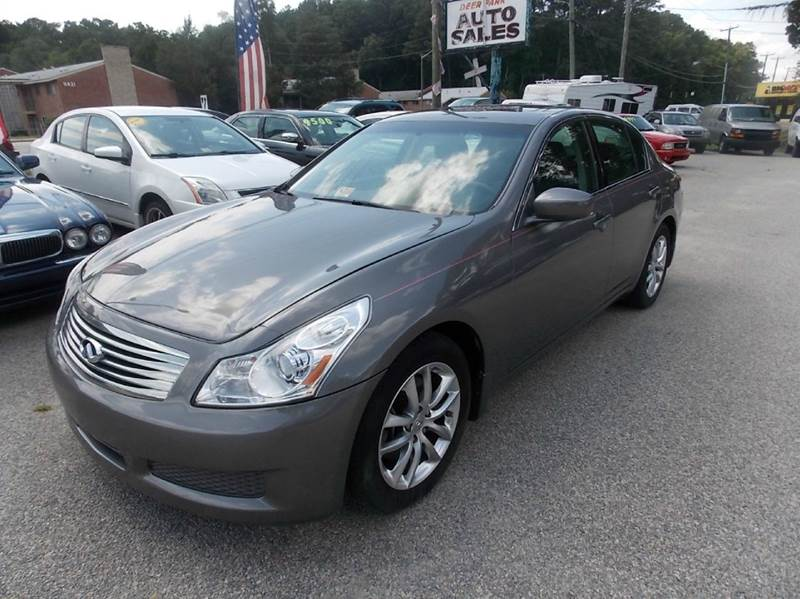 2009 Infiniti G37 Sedan for sale at Deer Park Auto Sales Corp in Newport News VA