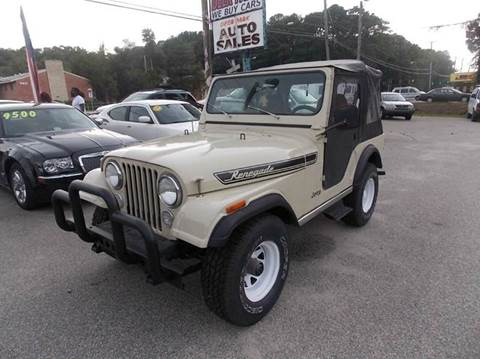 1982 Jeep CJ-5 for sale at Deer Park Auto Sales Corp in Newport News VA