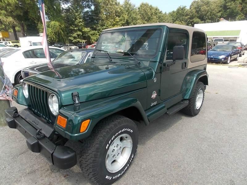 2000 Jeep Wrangler Sahara 2dr 4WD SUV   Newport News VA