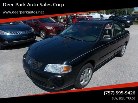 2006 Nissan Sentra for sale at Deer Park Auto Sales Corp in Newport News VA