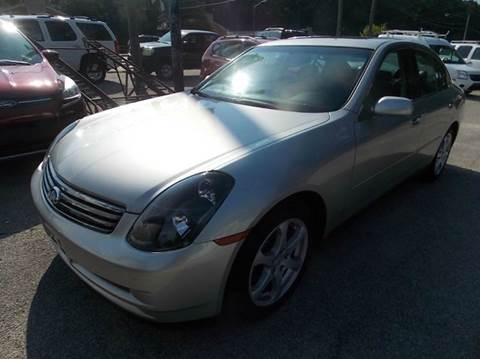 2003 Infiniti G35 for sale at Deer Park Auto Sales Corp in Newport News VA