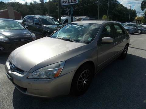 2005 Honda Accord for sale at Deer Park Auto Sales Corp in Newport News VA