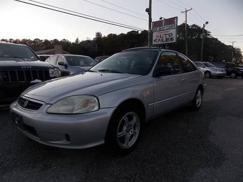 2000 Honda Civic for sale at Deer Park Auto Sales Corp in Newport News VA