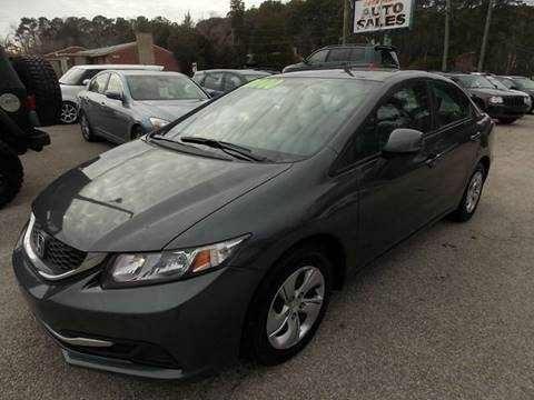 2013 Honda Civic for sale at Deer Park Auto Sales Corp in Newport News VA