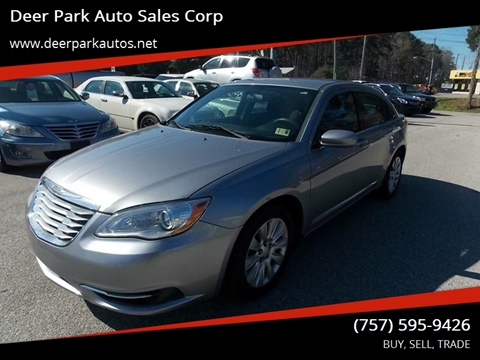 2014 Chrysler 200 for sale at Deer Park Auto Sales Corp in Newport News VA