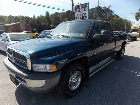 2002 Dodge Ram Pickup 2500 for sale at Deer Park Auto Sales Corp in Newport News VA