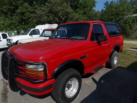 1995 Ford Bronco for sale at Deer Park Auto Sales Corp in Newport News VA