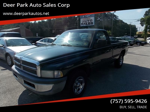 1998 Dodge Ram Pickup 1500 for sale at Deer Park Auto Sales Corp in Newport News VA