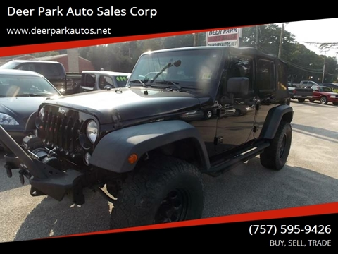 2012 Jeep Wrangler Unlimited for sale at Deer Park Auto Sales Corp in Newport News VA