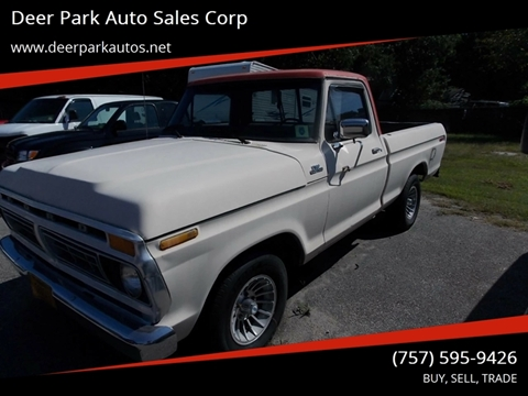 1977 Ford F-100 for sale at Deer Park Auto Sales Corp in Newport News VA