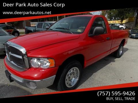 2004 Dodge Ram Pickup 1500 for sale at Deer Park Auto Sales Corp in Newport News VA