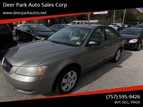 2008 Hyundai Sonata for sale at Deer Park Auto Sales Corp in Newport News VA