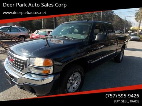 2006 GMC Sierra 1500 for sale at Deer Park Auto Sales Corp in Newport News VA