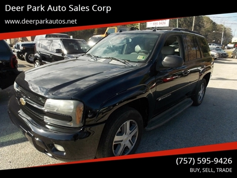 2005 Chevrolet TrailBlazer for sale at Deer Park Auto Sales Corp in Newport News VA
