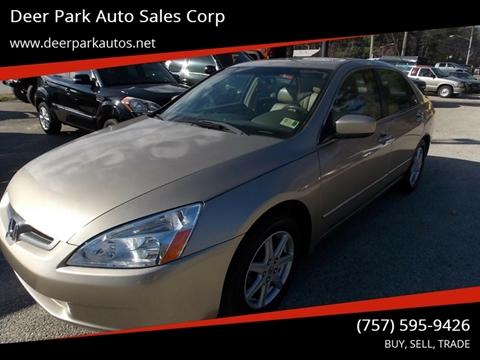 2004 Honda Accord for sale at Deer Park Auto Sales Corp in Newport News VA