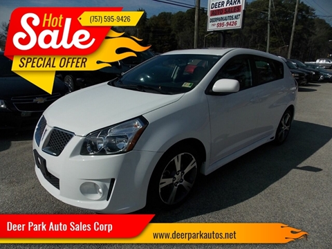 2009 Pontiac Vibe for sale at Deer Park Auto Sales Corp in Newport News VA