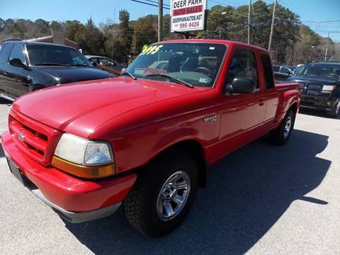 2000 Ford Ranger for sale at Deer Park Auto Sales Corp in Newport News VA