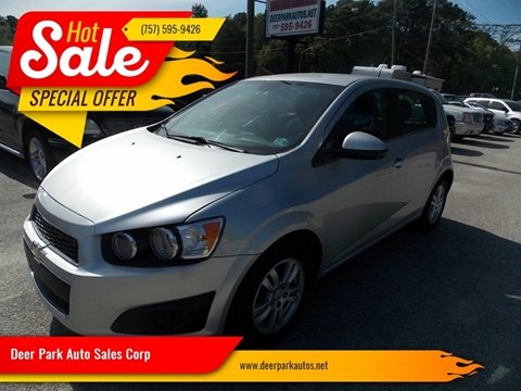 2013 Chevrolet Sonic for sale at Deer Park Auto Sales Corp in Newport News VA