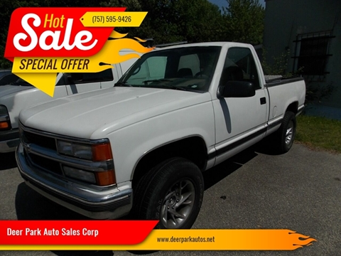 1995 Chevrolet C/K 1500 Series for sale at Deer Park Auto Sales Corp in Newport News VA