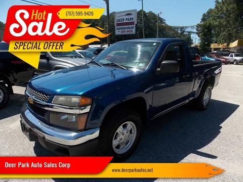 2005 Chevrolet Colorado for sale at Deer Park Auto Sales Corp in Newport News VA