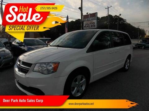 2013 Dodge Grand Caravan for sale at Deer Park Auto Sales Corp in Newport News VA