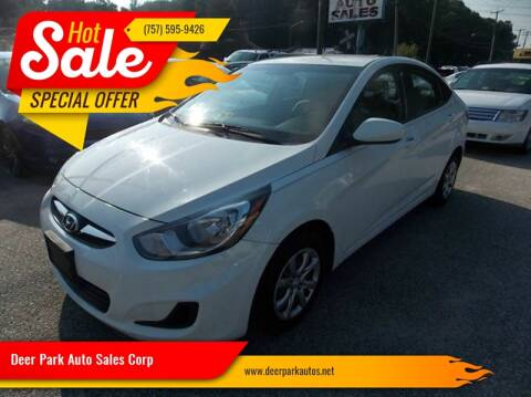 2013 Hyundai Accent for sale at Deer Park Auto Sales Corp in Newport News VA