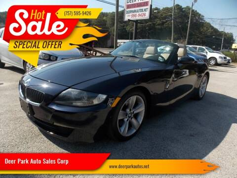 2006 BMW Z4 for sale at Deer Park Auto Sales Corp in Newport News VA