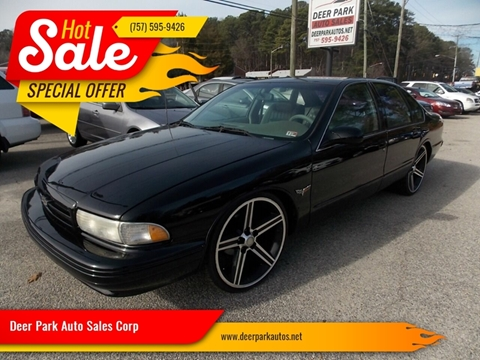 1995 Chevrolet Impala for sale at Deer Park Auto Sales Corp in Newport News VA