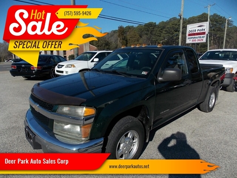 2004 Chevrolet Colorado for sale at Deer Park Auto Sales Corp in Newport News VA