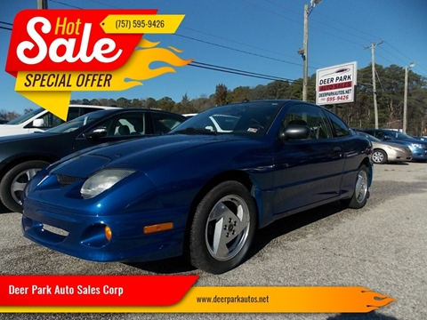 2004 Pontiac Sunfire for sale at Deer Park Auto Sales Corp in Newport News VA