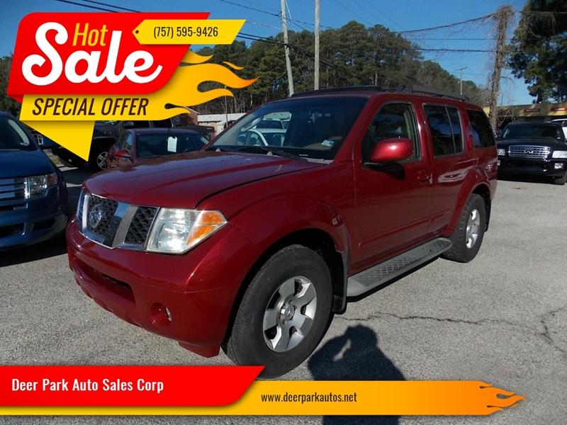 2005 Nissan Pathfinder for sale at Deer Park Auto Sales Corp in Newport News VA