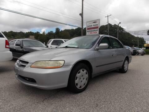 2000 Honda Accord for sale at Deer Park Auto Sales Corp in Newport News VA