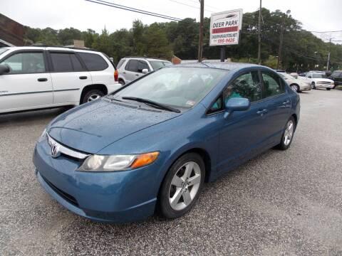 2008 Honda Civic for sale at Deer Park Auto Sales Corp in Newport News VA