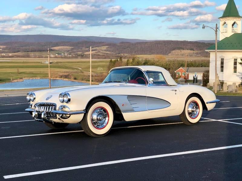 1958 Chevrolet Corvette White/Red*4spd*GreatCosmetics*L@@K In ...