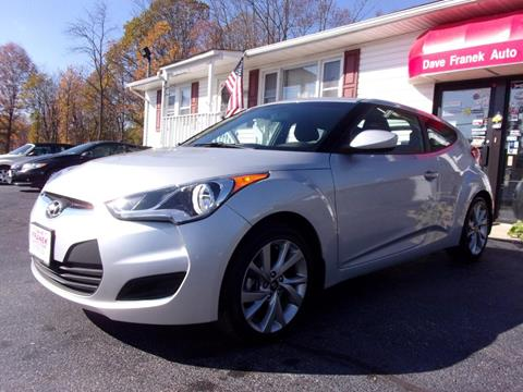 2016 Hyundai Veloster for sale at Dave Franek Automotive in Wantage NJ
