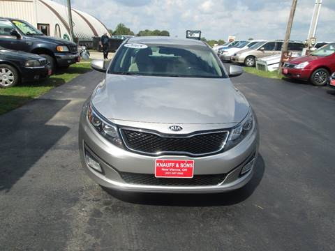2015 Kia Optima for sale at Knauff & Sons Motor Sales in New Vienna OH