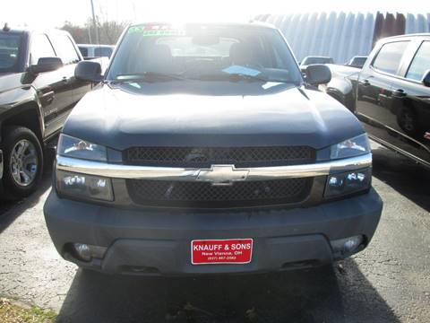 2005 Chevrolet Avalanche for sale at Knauff & Sons Motor Sales in New Vienna OH