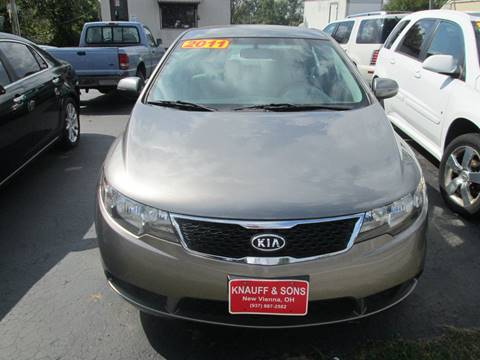 2011 Kia Forte for sale at Knauff & Sons Motor Sales in New Vienna OH
