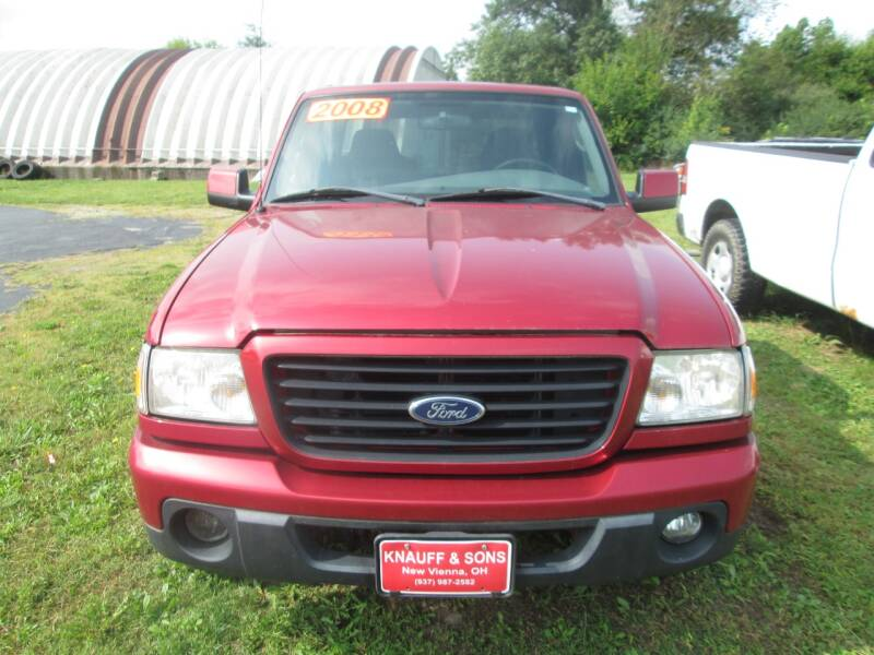 2008 Ford Ranger for sale at Knauff & Sons Motor Sales in New Vienna OH