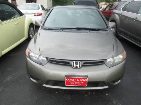 2008 Honda Civic for sale at Knauff & Sons Motor Sales in New Vienna OH
