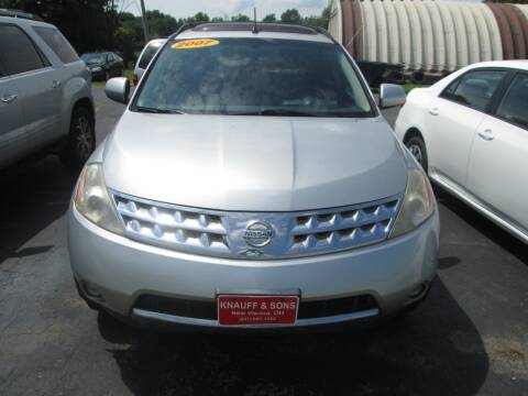 2007 Nissan Murano for sale at Knauff & Sons Motor Sales in New Vienna OH