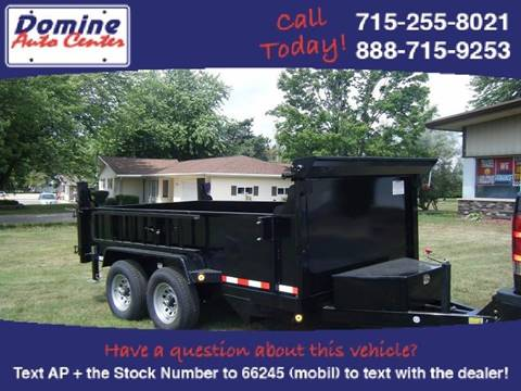 2018 Quality Steel 6x12 7k Dump Tandem 7000# for sale in Loyal, WI