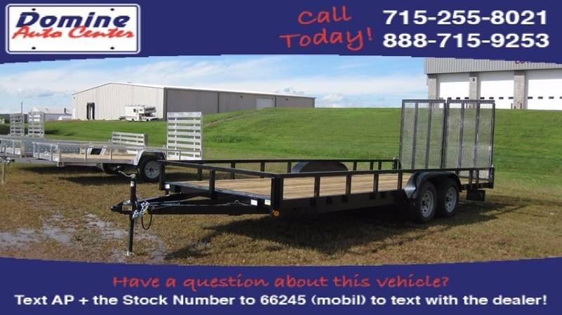 2017 Quality Steel 83x20  2UTV hauler 7000# Tande #466 - Loyal WI