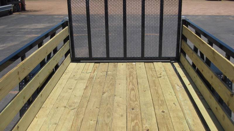 2017 Quality Steel 2990# 74X12 High Side Woody #487 - Loyal WI