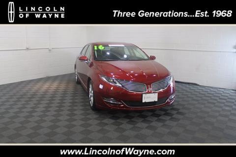 2016 Lincoln MKZ for sale in Wayne NJ