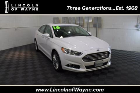 2016 Ford Fusion for sale in Wayne NJ