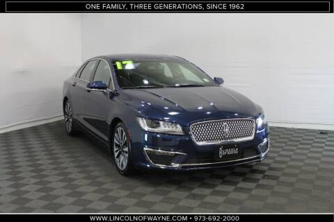 2017 Lincoln MKZ Select for sale at Lincoln of Wayne in Wayne NJ