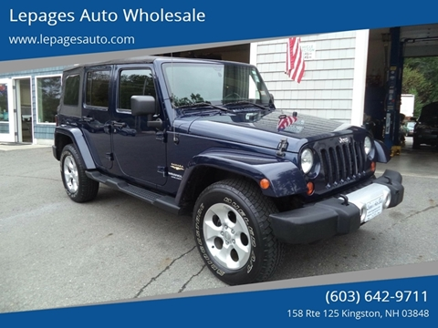 2013 Jeep Wrangler Unlimited for sale in Kingston, NH